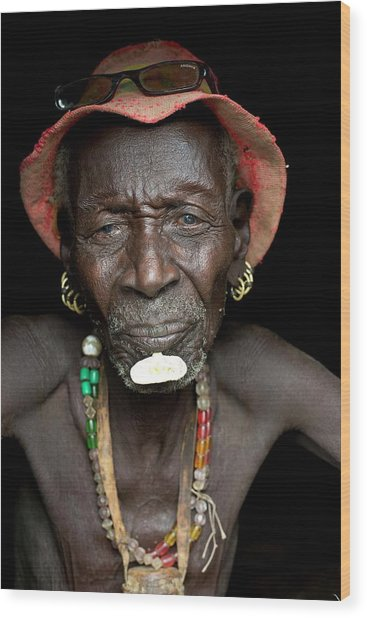 Old Dassenech Tribesman With Cataracts Wood Print
