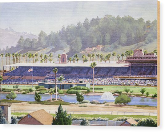 Old Del Mar Race Track Wood Print