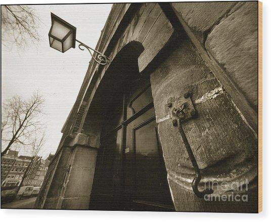 Old Doorway In Amsterdam Wood Print
