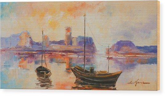 Old Dunbar Harbour Wood Print