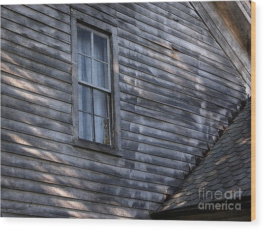 Old Farm House Detail Wood Print