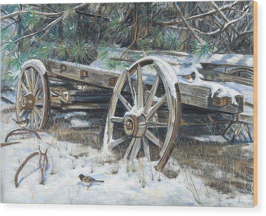 Old Farm Wagon Wood Print