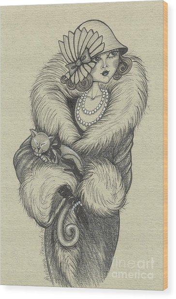 Old-fashioned Wood Print by Snezana Kragulj