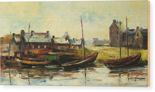 Old Fisherman's Village Wood Print