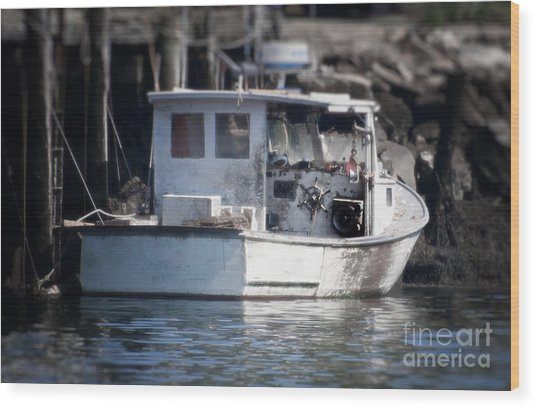 Old Fishing Boat Wood Print by Loriannah Hespe