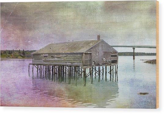 Old Fishing Pier  Wood Print