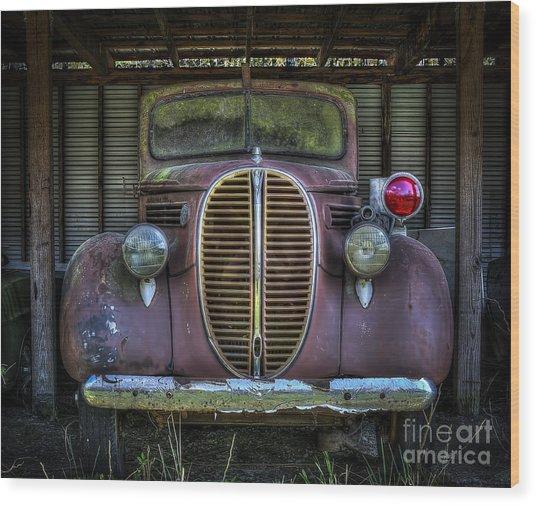 Old Ford Firetruck 2 Wood Print