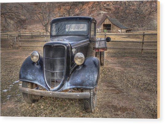 Old Ford Flatbed Wood Print