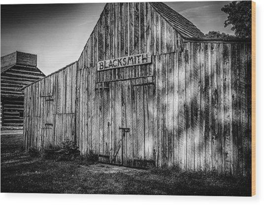 Old Fort Wayne Blacksmith Shop Wood Print by Gene Sherrill