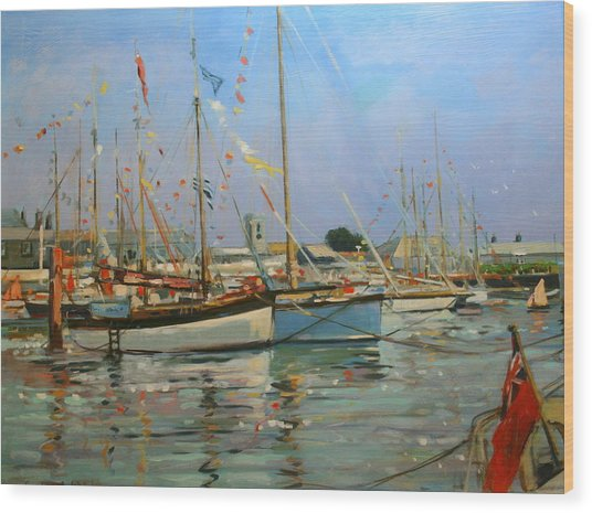 Old Gaffers  Yarmouth  Isle Of Wight Wood Print