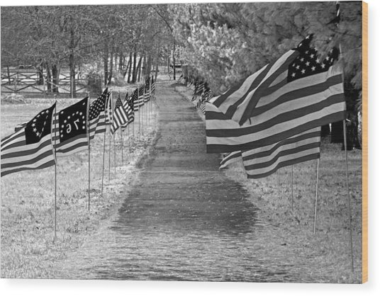 Old Glory Ir Wood Print