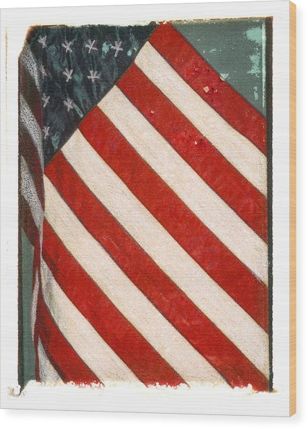 Old Glory Wood Print