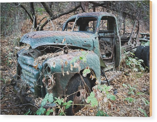 Old Gmc Wood Print by Dan Julien