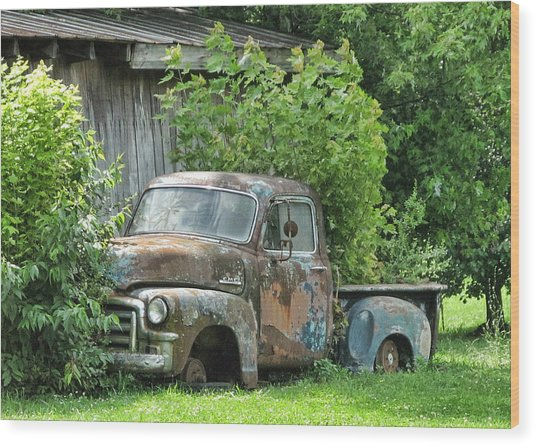 Old Gmc Wood Print