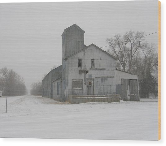 Old Grainery Wood Print