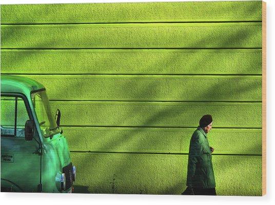 Old Green Wood Print