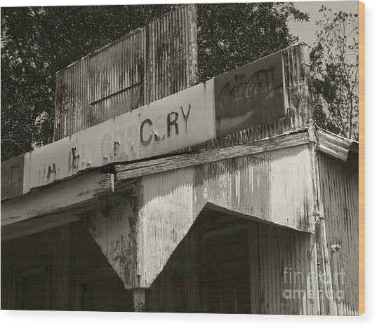 Old Grocery Store Wood Print
