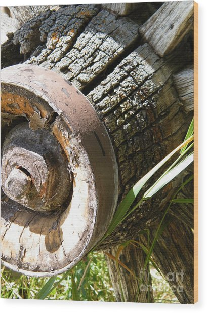 Wood Print featuring the photograph Old Hub by Ann E Robson