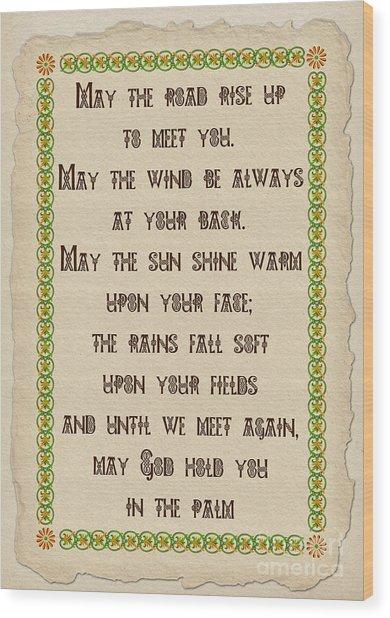 Old Irish Blessing Wood Print