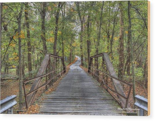 Old Iron Bridge At Panther Creek Wood Print