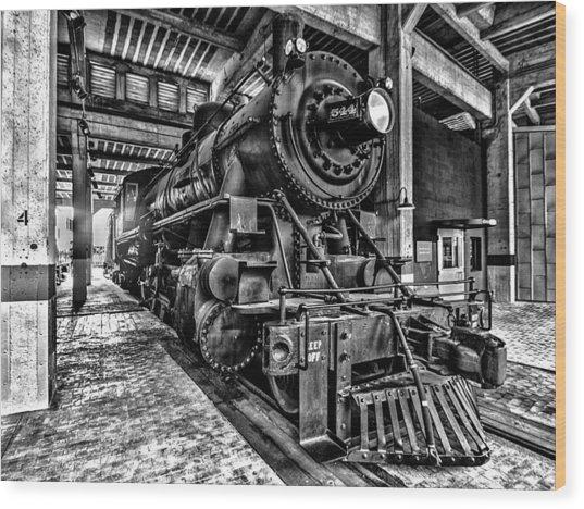 Old Iron Horse Wood Print
