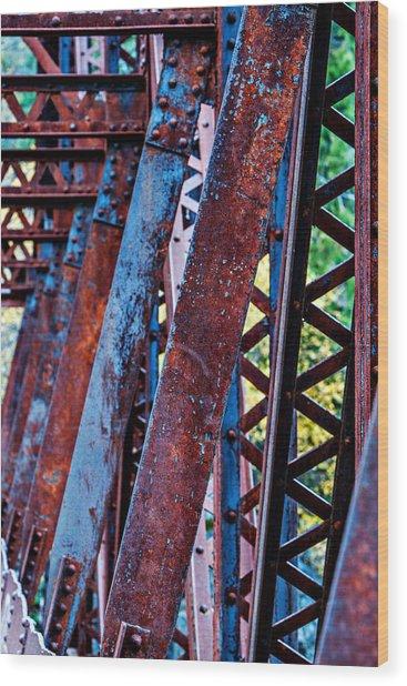 Old Iron Wood Print