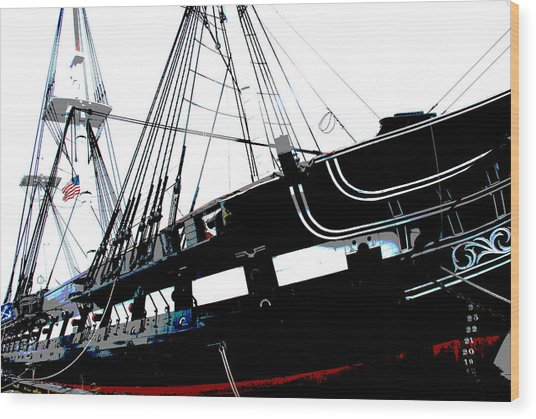 Old Ironsides Wood Print
