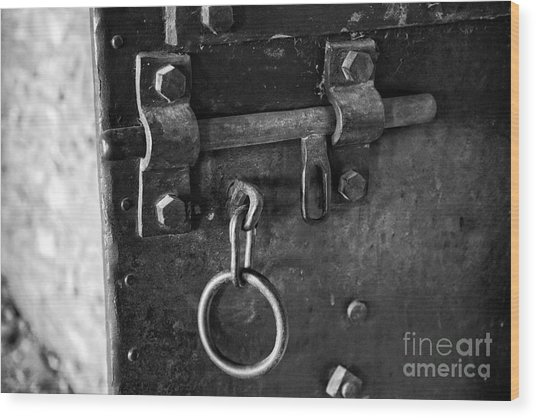 Old Jail Door Wood Print