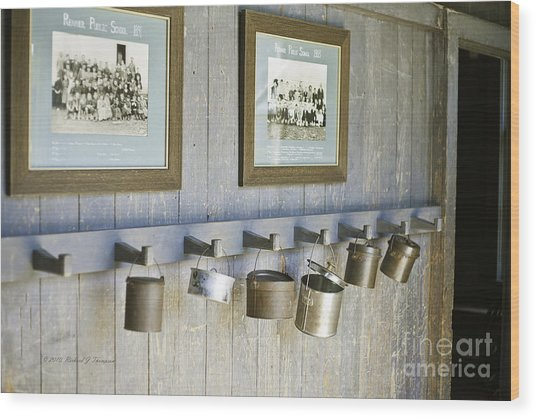 Old Lunch Pails Wood Print