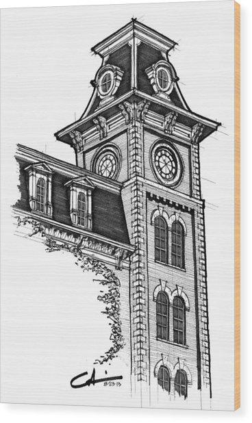 Old Main Wood Print