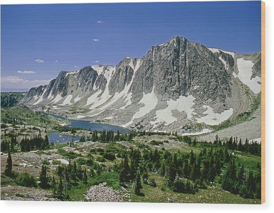 M-09702-old Main Peak, Wy Wood Print