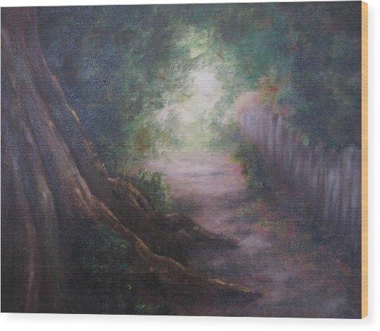 Old Man Tree Toll Road Wood Print