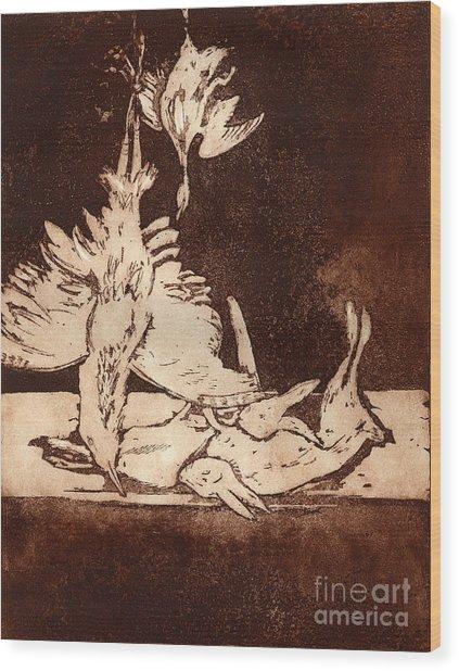 Old Masters Still Life - With Great Bittern Duck Rabbit - Nature Morte - Natura Morta - Still Life Wood Print