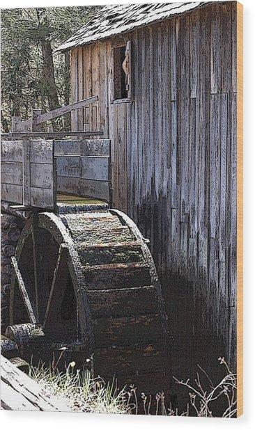 Old Mill Art01 Wood Print