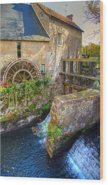 Old Mill In Bayeux Wood Print