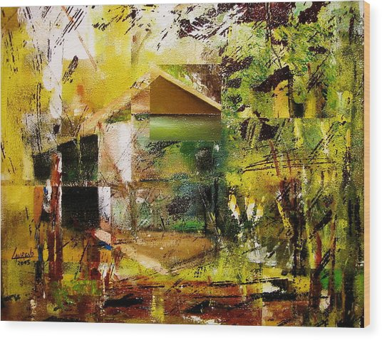 Old Mill Wood Print by Laurend Doumba