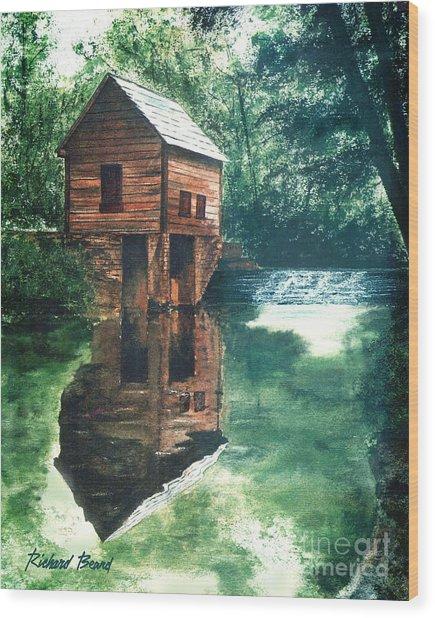Old Mill Stream Wood Print