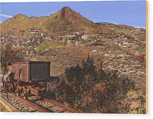 Old Mining Town No.24 Wood Print