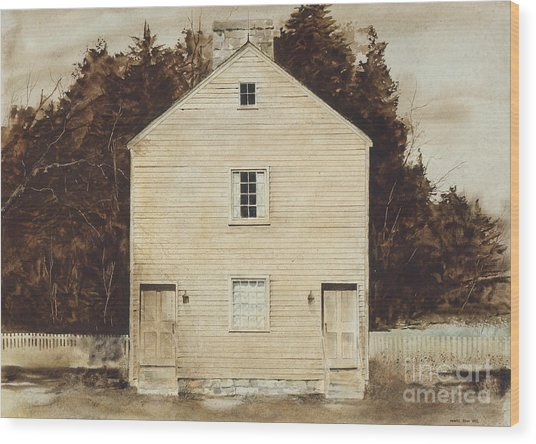 Old Ministry's Shop Wood Print