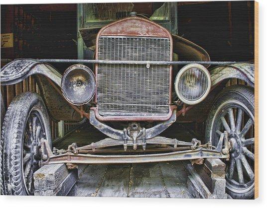 Old Model T Wood Print