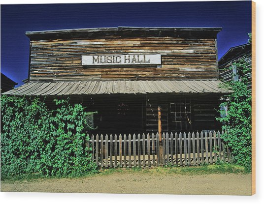Old Music Hall In Ghost Town Wood Print