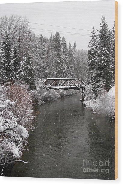 Old Nason Creek Bridge Wood Print
