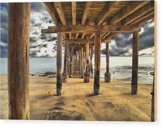 Old Pillar Point Pier Wood Print