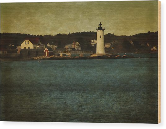 Old Portsmouth Lighthouse Wood Print