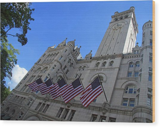 The Old Post Office Or Trump Tower Wood Print