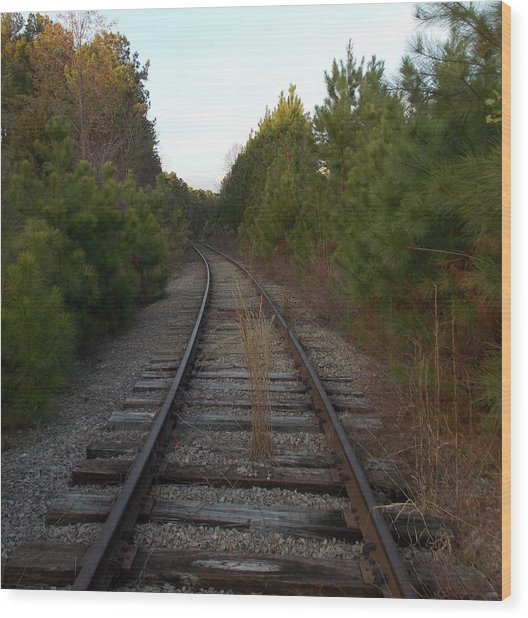Old Railroad Wood Print