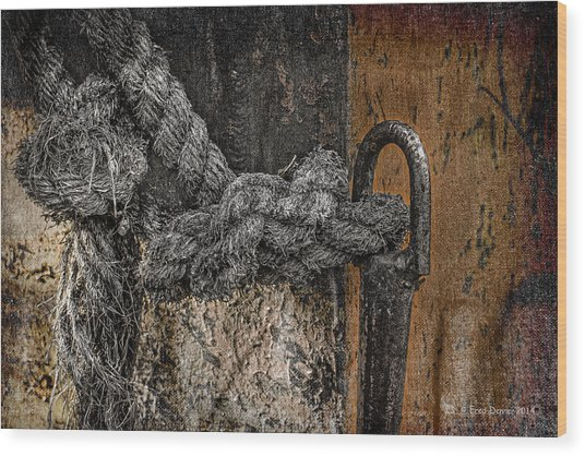 Wood Print featuring the photograph Old Rope by Fred Denner