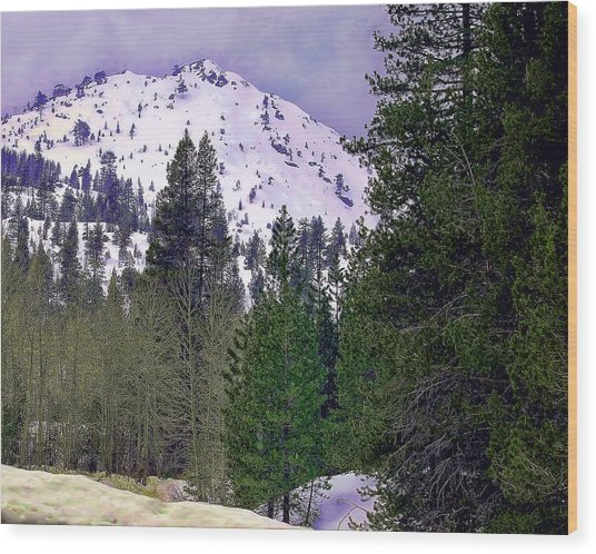 Old Route 40 Winter Wood Print