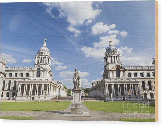 Old Royal Naval College In Greenwich Wood Print by Roberto Morgenthaler