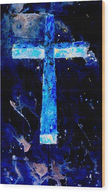 Old Rugged Cross II Wood Print